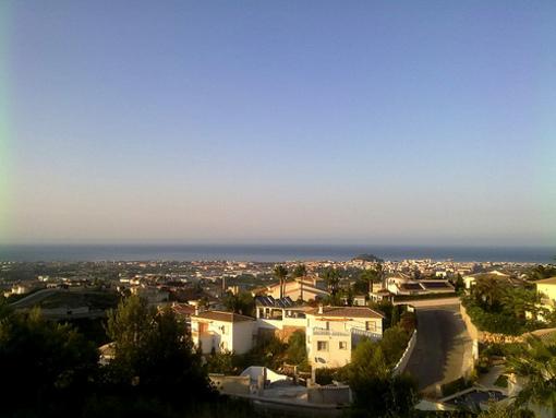 Vistas de la ciudad de Denia
