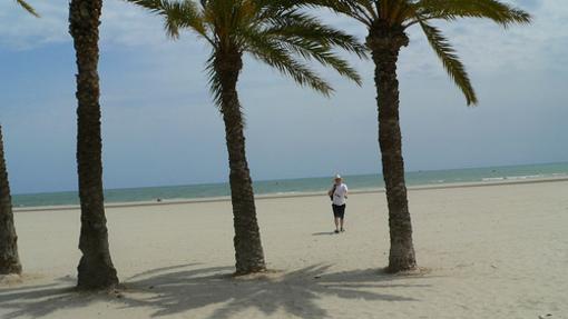 Playa desolada de el Elche