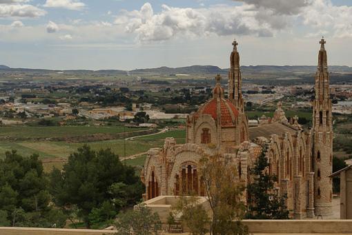 Vista del entorno al Santuario de Maria Magdalena