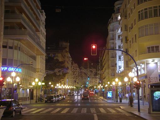 Zona  de la vida nocturna de Alicante