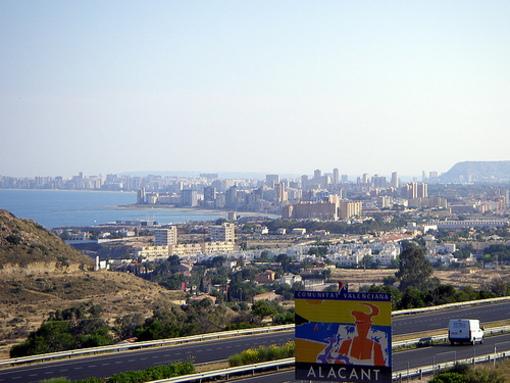 LLegada a Alicante por la autopista
