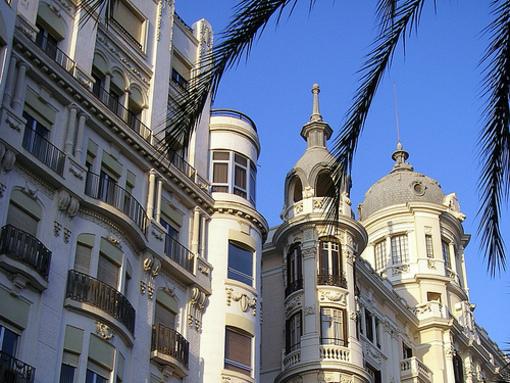 Edificios de la explanada en Alicante