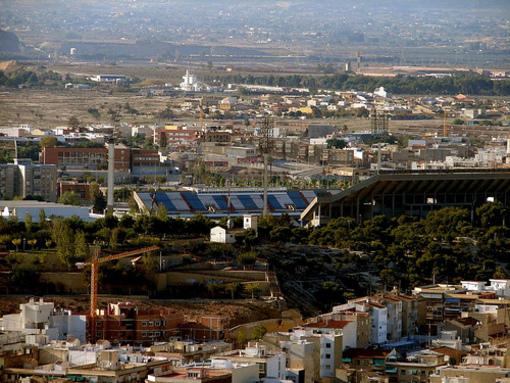 Vista del Estadio José Rico Pérez de Alicante