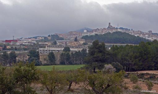 Banyeres visto desde la zona del Molí l'Ombria