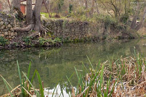 Vista del Rio Vinalopó a su paso por Banyeres de Mariola