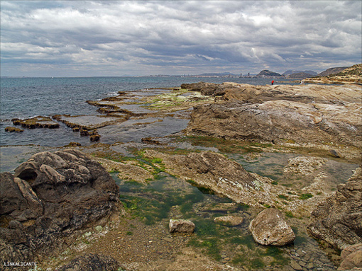 Vista de las formaciones rocosas en Cabo de las Huertas
