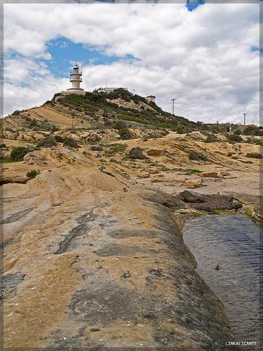 Cabo de las Huertas y su faro al fondo