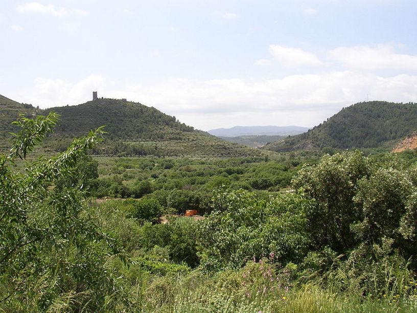 Vista de el entorno natural del Castillo de Almonecir
