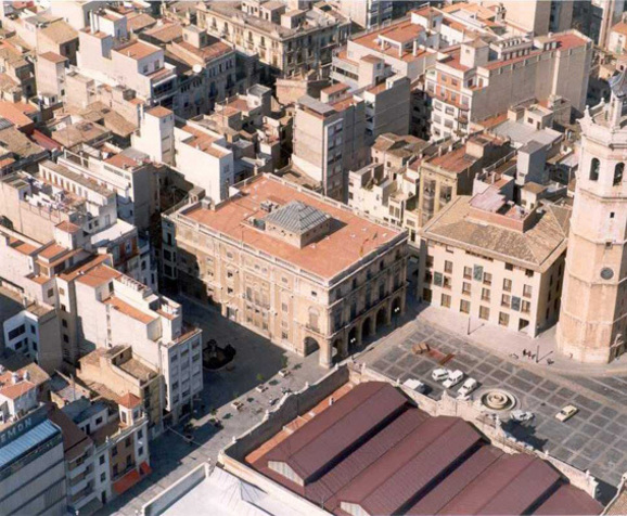 Plaza mayor de Castellón en Castellón de la Plana