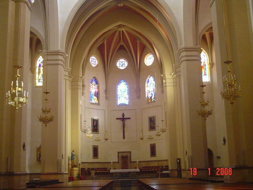 Interior de la Cocatedral de Santa Maria en Castelló de la plana