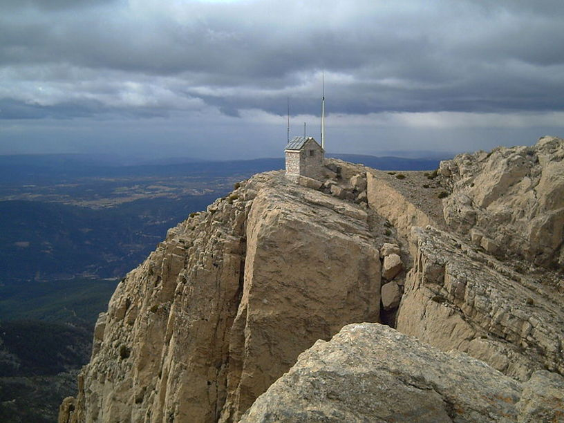 Vista de la formación montañosa de  Peñagolosa