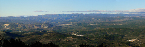 Vista de varios pueblos desde la Sierra Espadán