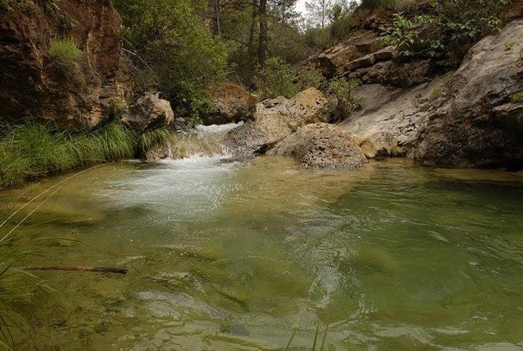 Cascadas naturales en Villahermosa del Río