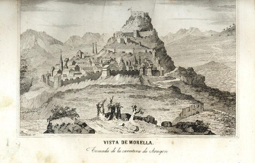 Representació de la vista de Morella