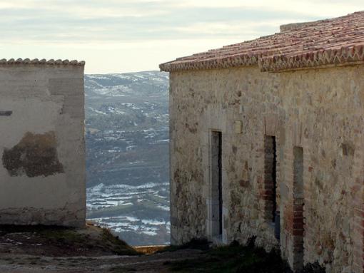Nucleo de poblacion en torno al castillo de  Morella