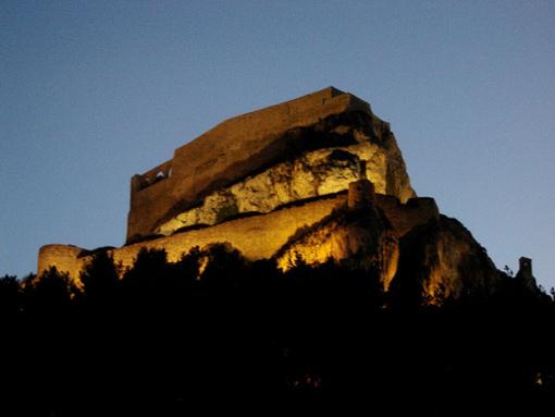 Vista de el Castillo de Morella al atardecer