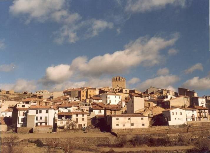 Vista panorámica de el poblado de Portell de Morella