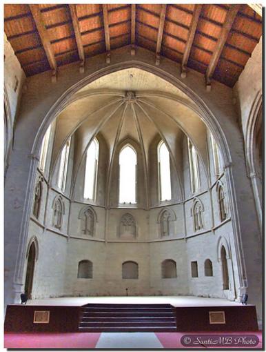 Vista des de l'interior del convent dels Farnciscanos en Morella
