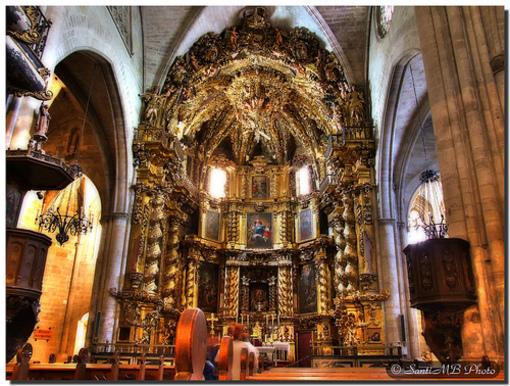 Imponente retablo de la Iglesia Arciprestal de Morella