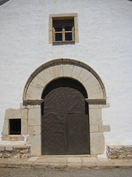Puerta de la ermita de San Vicente Ferrer de Cuevas de Vinromá