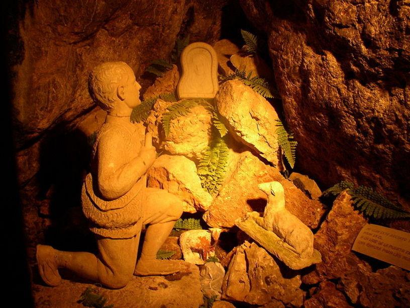 Imatge del santuari de la Mare de Déu de la Cova Santa