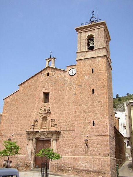 Fachada de la Iglesia parroquial de Vall de Almonacid
