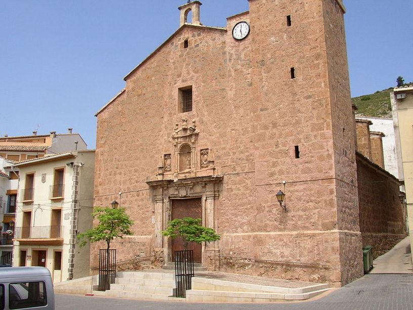 Fachada de la Iglesia Parroquial Santísima Concepción en Vall de Almonacid