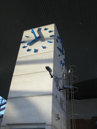 Reloj de Castellón de la Plana situado en la estación