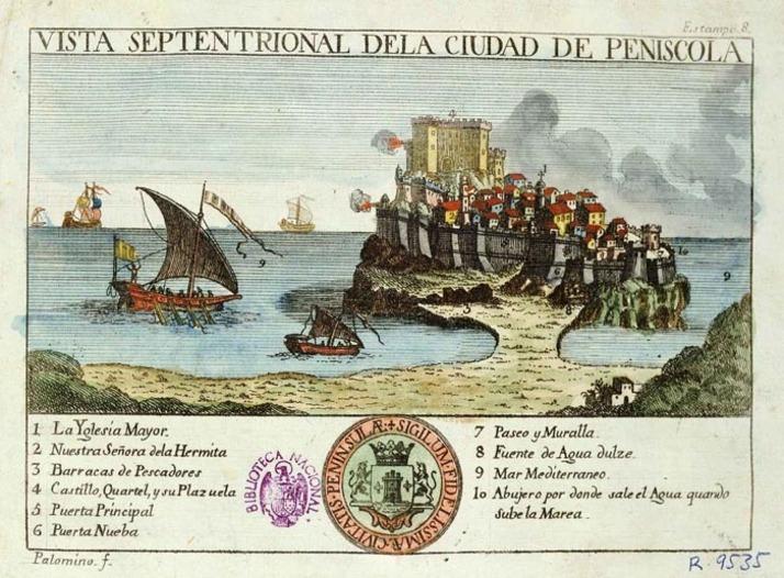 Representación de Peñíscola en el año 1786