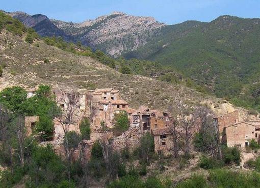Vista del poblado de Bibioj. Villagermosa del Río