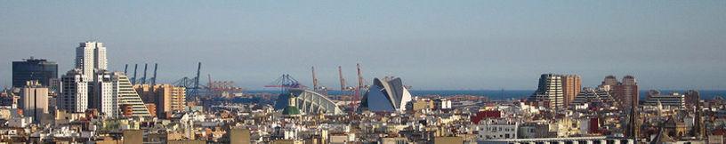 Vista panorámica de la ciudad de Valencia