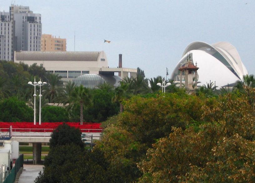 Vista desde arriba de el Jardín del Turia en Valencia