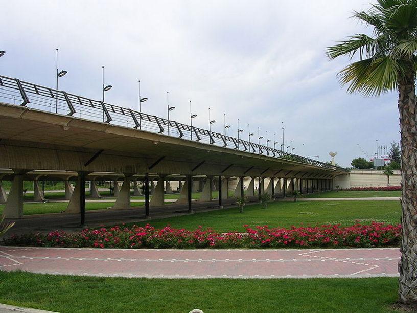 Puente del 9 de Octubre en Valencia, diseñado por Santiago Calatrava.