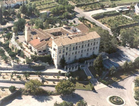 Vista aérea de el Convento de Aguas Vivas