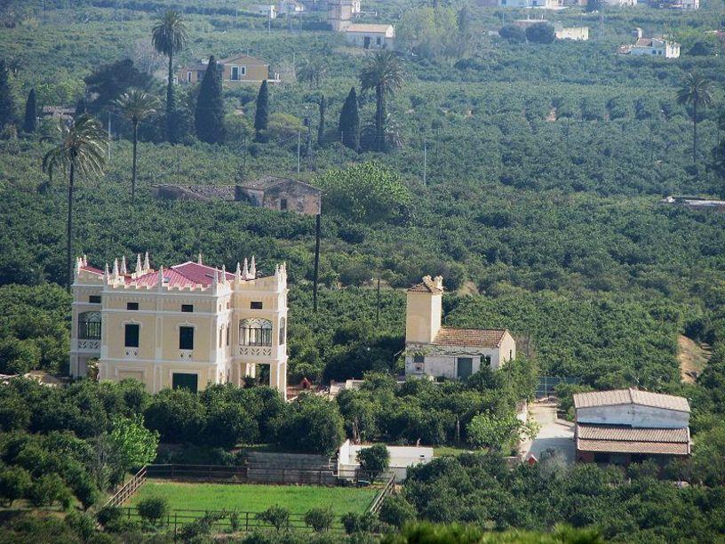 Vista de Alzira y sus huertos
