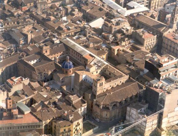 Vista aérea de la Iglesia del Santísimo Cristo del Salvador