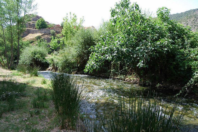 Vista de el río Ebrón que atraviesa atraviesa los términos municipales de Castielfabib y Torrebaja