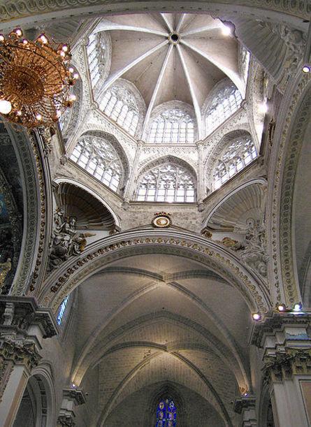 Cimborrio , vista desde el interior, Catedral de Valencia