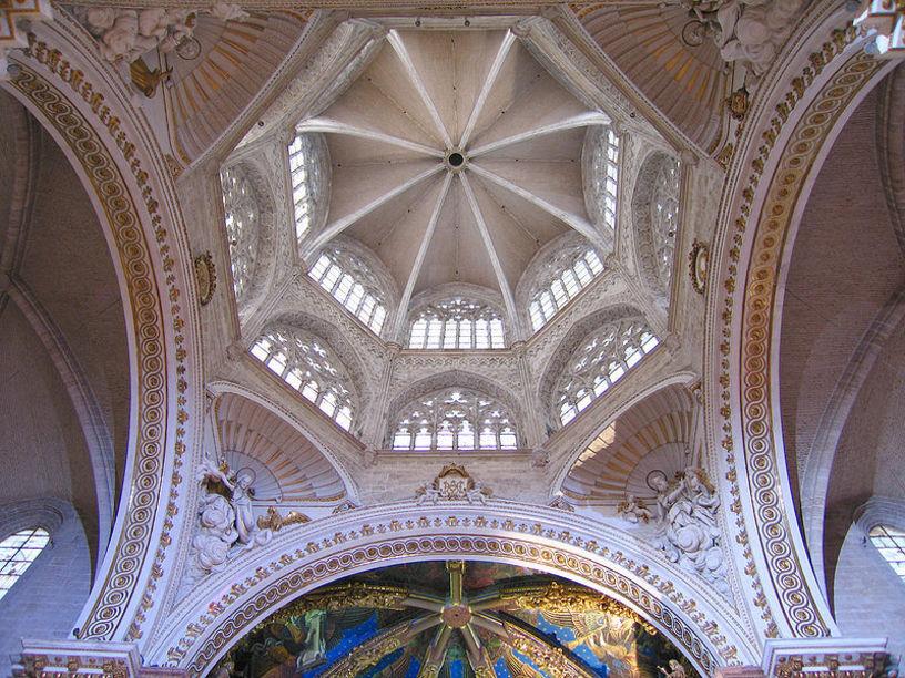 Vista oblicua del Cimborrio de la Catedral de Valencia