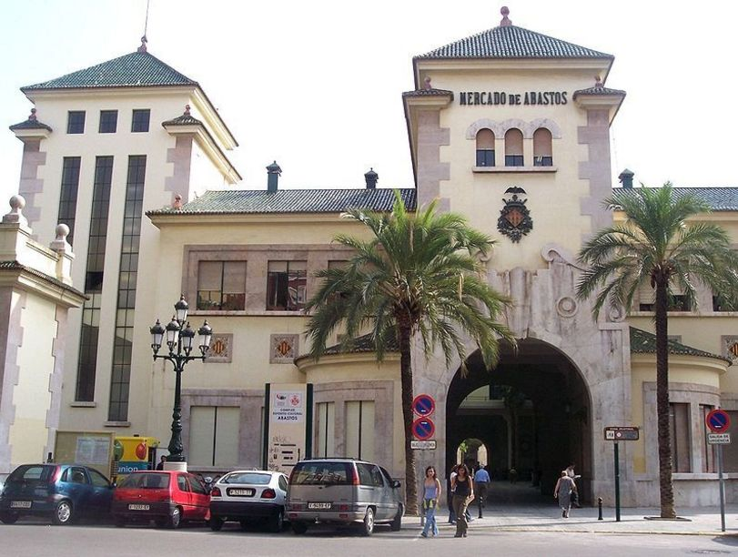 Fachada de el Antiguo Mercado de Abastos de Valencia