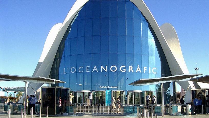 Acceso al Oceanográfico de Valencia