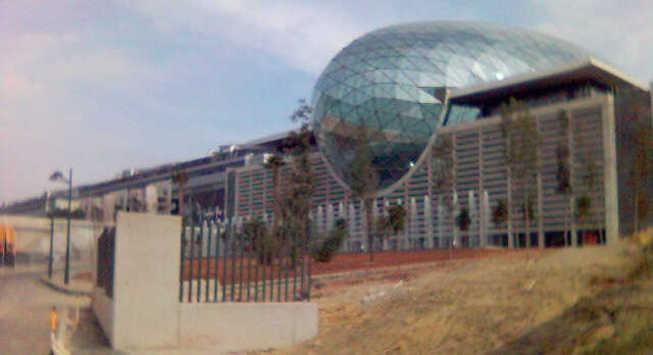 Fachada de la Feria Muestrario Internacional de Valencia