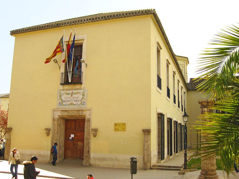 Vista lateral de la Biblioteca Pública de Valencia