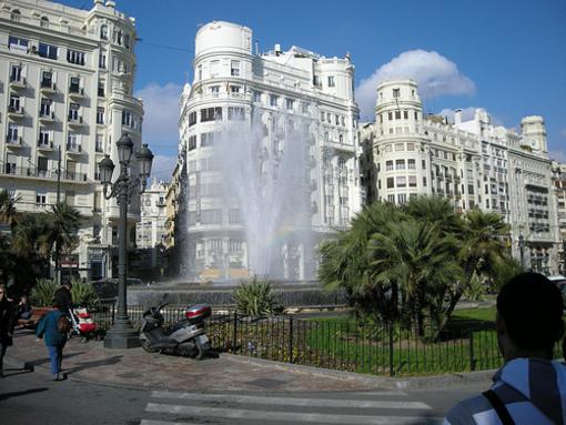 Fuente de la plaza de el Ayuntamiento de VAlencia