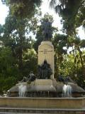 Vista de la Fuente Plaza de Canovas de Valéncia.