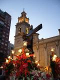 Procesión del Cristo de la Fe Valencia calle Sagunto
