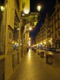 Calle de la paz de noche
