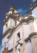 Fatxada de l'Església parroquial de Tavernes de Valldigna