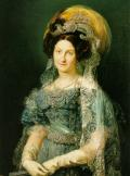 María Cristina de Borbó-Dos Sicilias, Reina Consort d'Espanya , retrat fet per Vicente Lopez Po