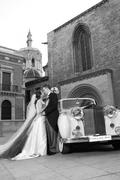 Coaches for wedding. Rent of coaches of betrothed man and woman